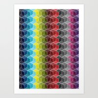 Hexagon Shades / Pattern… Art Print