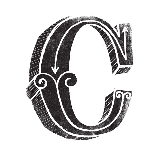 C - the third letter of the alphabet Canvas Print