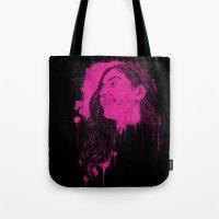 Black Pink Pop Tote Bag