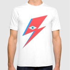 David Bowie  |  Ziggy Stardust  |  Minimalism Mens Fitted Tee White SMALL