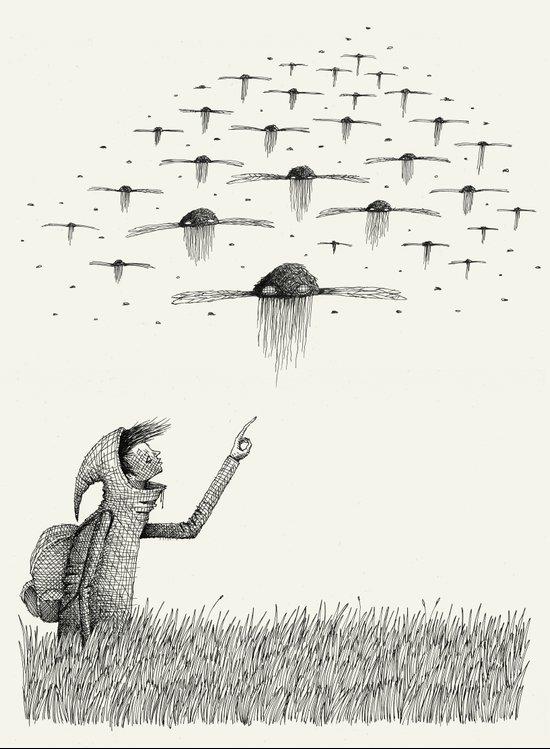 'I Saw Drones' Art Print