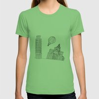 Point Of View... Womens Fitted Tee Grass SMALL