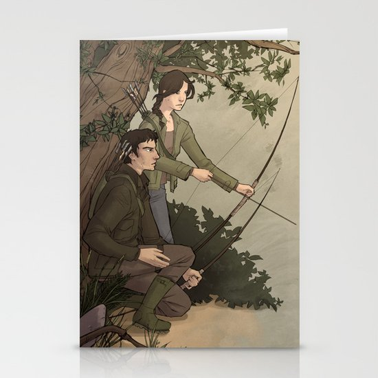 Katniss and Gale Stationery Card