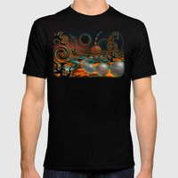 The Black Moon Mens Fitted Tee Black SMALL