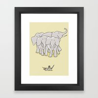 They Have Weapons Framed Art Print