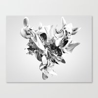 Twist Of Heart - White Canvas Print