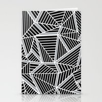 Ab Lines Zoom Black And … Stationery Cards