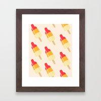 Rocket ice cream Framed Art Print