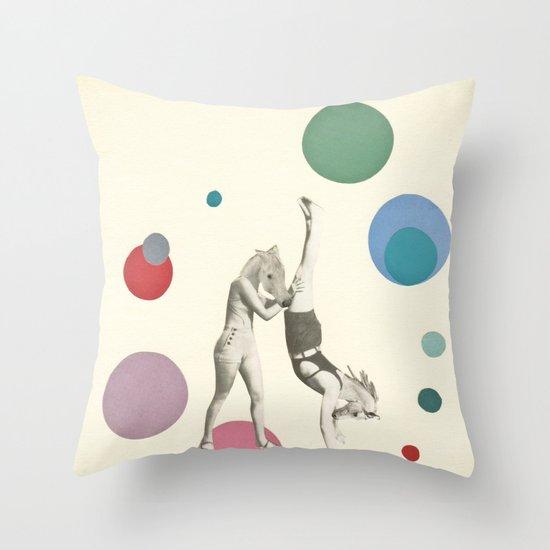 Horsing Around Throw Pillow