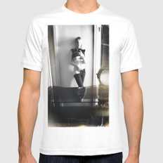CAMRAFACE White Mens Fitted Tee SMALL