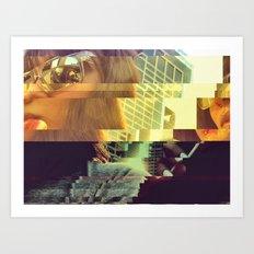 Glitch Pop Art Print