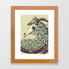 Beautiful Horse Old Framed Art Print