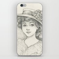 Sketch of an Edwardian Lady iPhone & iPod Skin