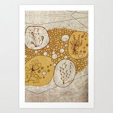 Plants & Pebbles Art Print