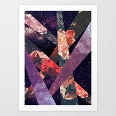 ROSES IN THE GALAXY Art Print