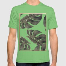 Monstera V2 #society6 #d… Mens Fitted Tee Grass SMALL