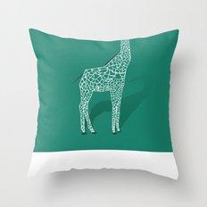 Animal Kingdom: Giraffe III Throw Pillow