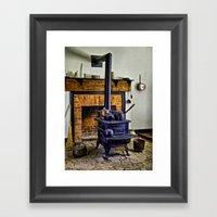 Wood Stove (Painted) Framed Art Print