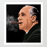 Red Aurbach: Boston Celtics Art Print