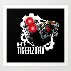 We need Tigerzord Power! Art Print