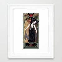 Dark Lili Nouveau - Legend Framed Art Print