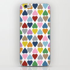 Diamond Hearts Repeat iPhone & iPod Skin