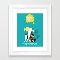 Endo Paw Pals Framed Art Print