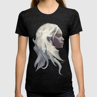 Mother Of Dragons Womens Fitted Tee Tri-Black SMALL