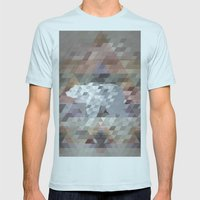 Bear Mens Fitted Tee Light Blue SMALL