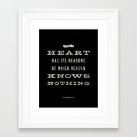 The Heart Quote Framed Art Print