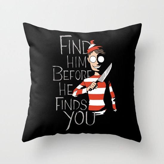 Hiding in the Dark Throw Pillow