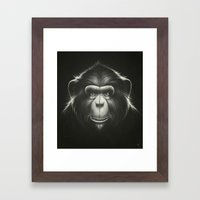 Monkee with Tooth Framed Art Print