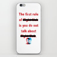 The First Rule Of Fight … iPhone & iPod Skin