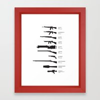 Firearms Through The Ages Framed Art Print