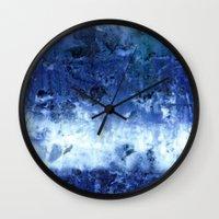 Saltwater Silk Blue Wall Clock