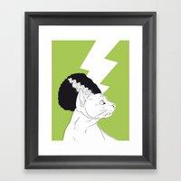 The Bride Of Frankencat Framed Art Print