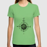 Compass - by Genu Womens Fitted Tee Grass SMALL