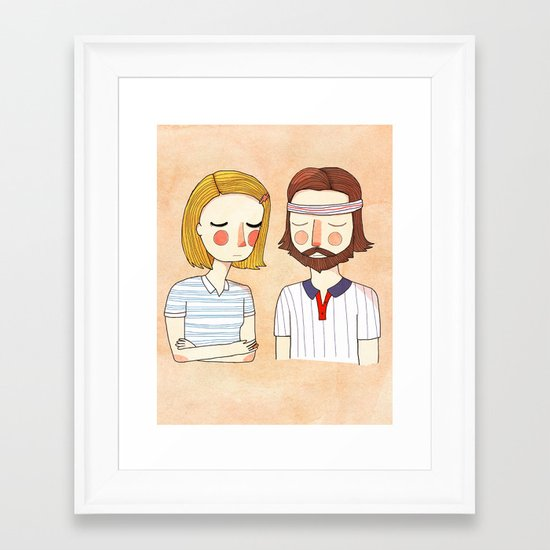 Secretly In Love Framed Art Print