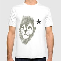 Punkster Lion *remade for tshirts* Mens Fitted Tee White SMALL