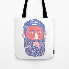 Flowers in Beard Tote Bag