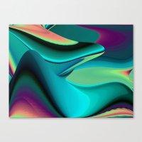 Futuristic, Abstract Rainbowart 6 Canvas Print