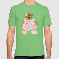 Rose Bear Mens Fitted Tee Grass SMALL