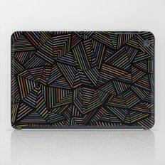 Ab Linear Rainbow Black iPad Case