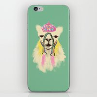 Llama drama queen iPhone & iPod Skin