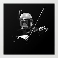Dark Violinist Fett Canvas Print