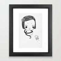 onna no ko Framed Art Print