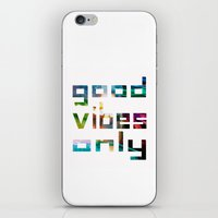 Good Vibes Only // Coach… iPhone & iPod Skin