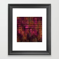 Lined Rainbow Rusted Metal Look Framed Art Print