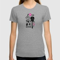 Rock On Girl! Womens Fitted Tee Tri-Grey SMALL