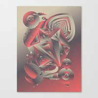 Geometromorphic Consciousness Canvas Print